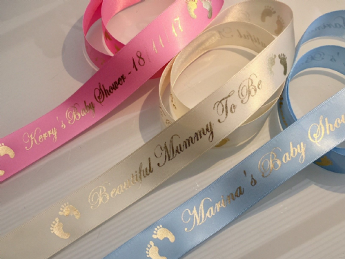 Personalised Baby Shower Ribbon